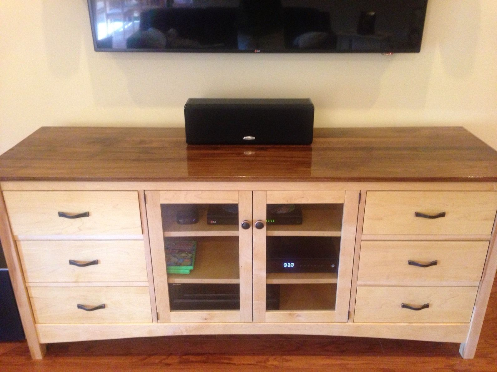 Custom made tv console by bungalow white oak furniture - Made com meuble tv ...