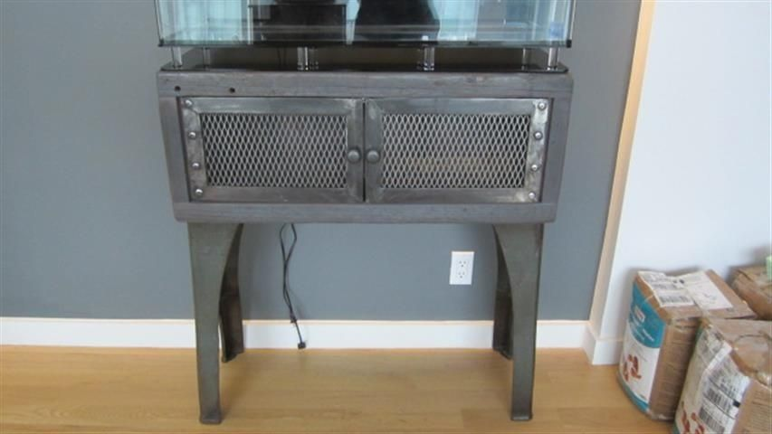 Custom Industrial Fish Tank Stand By Wild Edge Designs