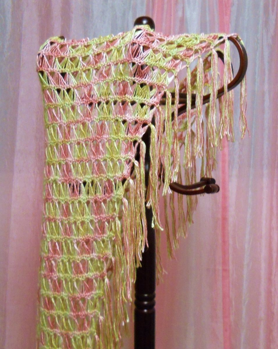 Hand Made Sunshine And Roses - Broomstick Lace Crochet ...