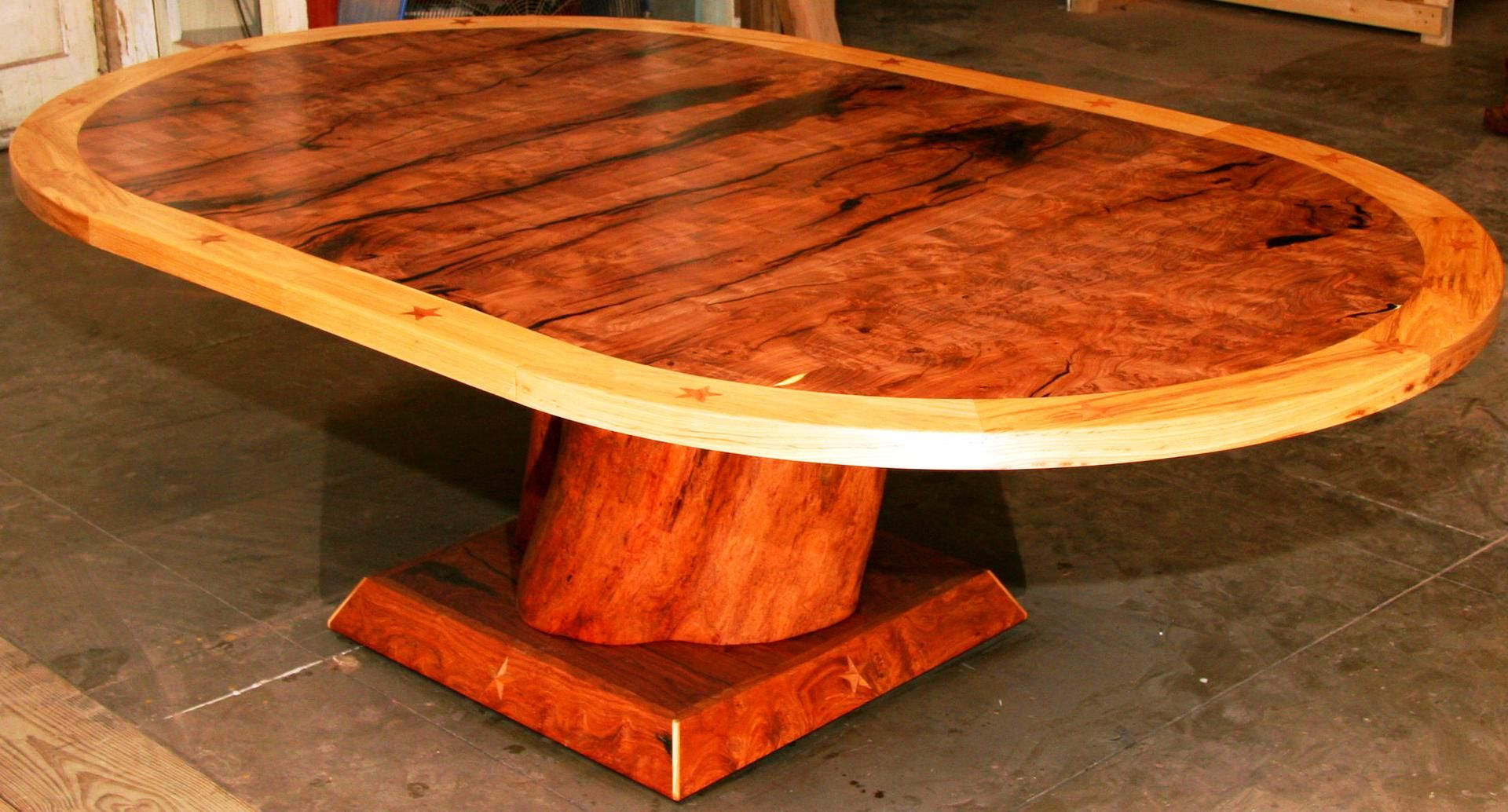 Hand Made Texas Heritage Dining Table By Unique Mesquite