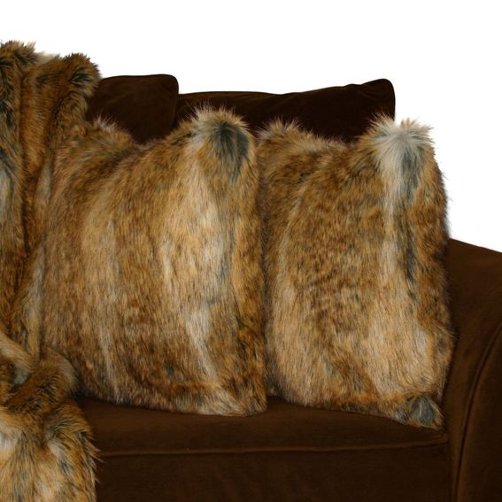 Faux Fur Throw And Pillow Set : Custom Premium 60x84 Canadian Fox Honey Faux Fur Throw Blanket And 18x18 Decorative Pillow Set ...