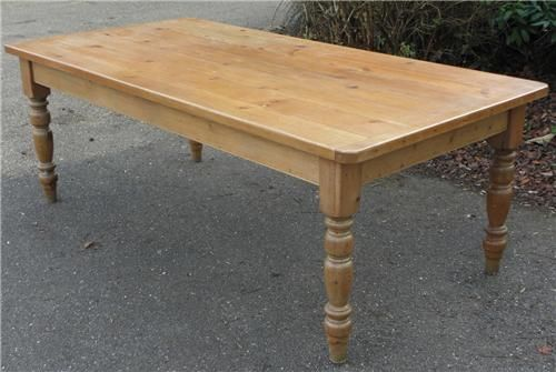 Hand Made Knotty Pine Farmhouse Table By Edward Cooper