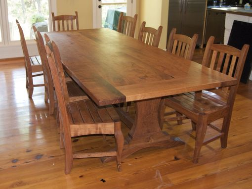 Hand Crafted Mesquite Table Set By Homestead Heritage Furniture