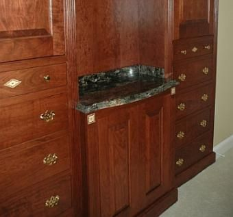 Custom Made Cherry Dressing Cabinets