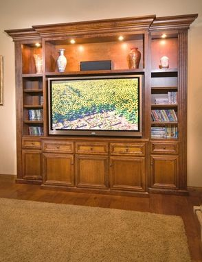 Custom Made Home Entertainment Cabinet - Built-In