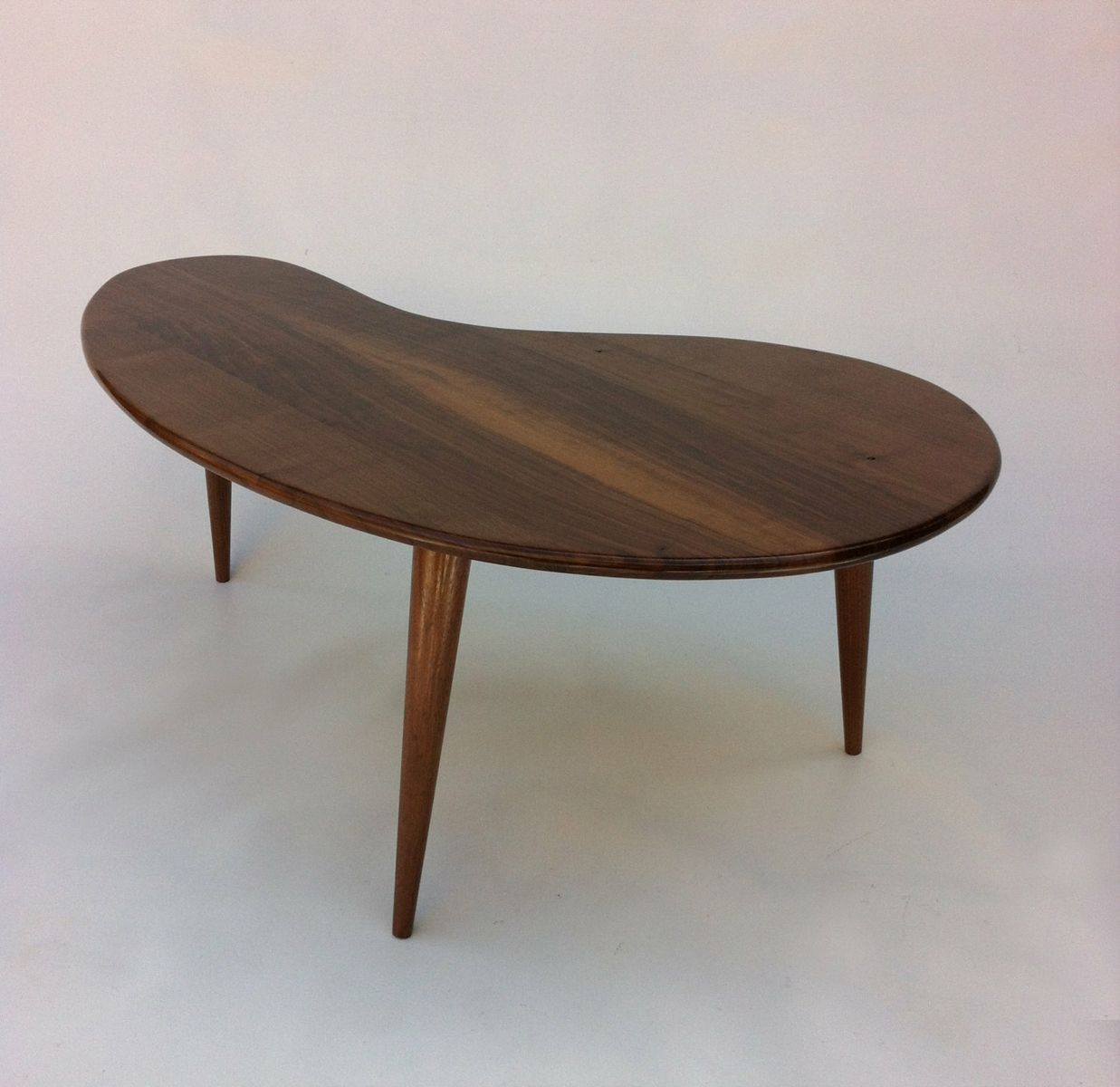 Buy Custom Modern Coffee Cocktail Table Eames Era Amoeba Design With Tapered Walnut Legs Made