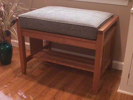 Custom Made Cherry Arts & Crafts Bench