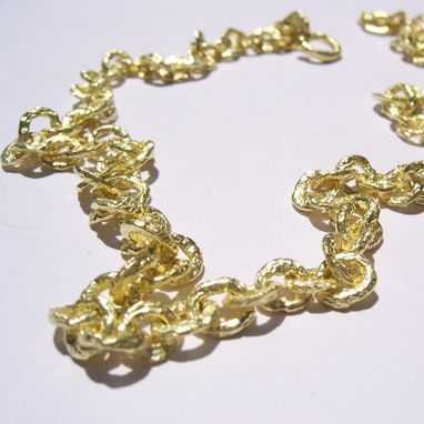 Custom Made 18kt Gold Raw Necklace