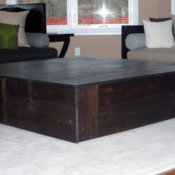 hand made square reclaimed coffee table the monolith by. Black Bedroom Furniture Sets. Home Design Ideas