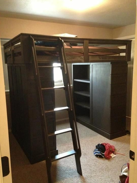 Hand Crafted Loft Bed With Dresser By Clark Fine Furniture