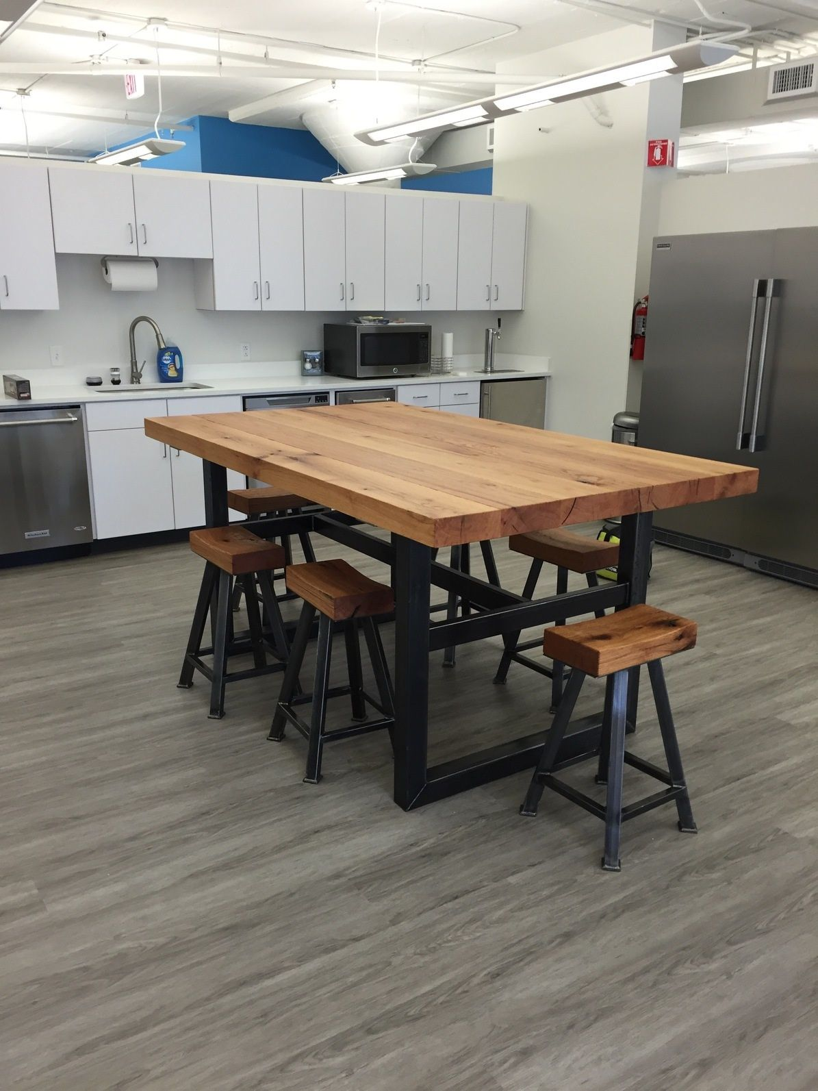 Custom kitchen table w stools by freelance customs - Custom kitchen table ...