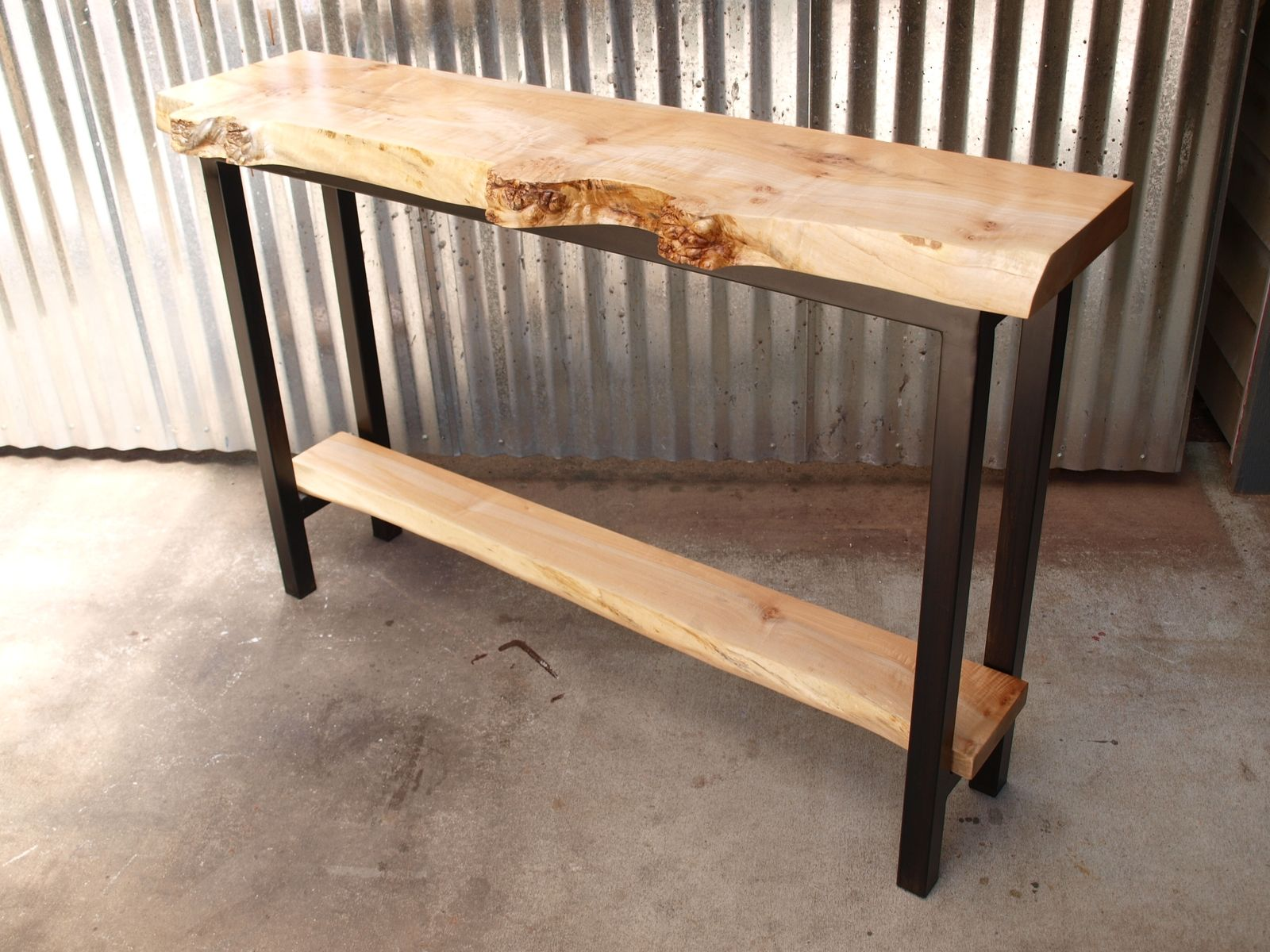 Buy A Hand Crafted Live Edge Maple Console Table Made To