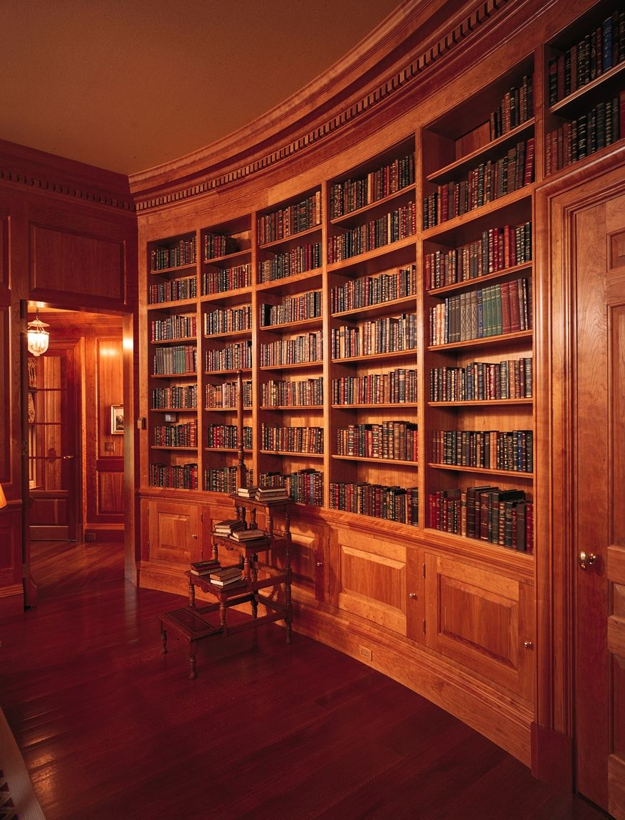 Wood Paneled Library: Custom Made Cherry Library By Culin & Colella, Inc