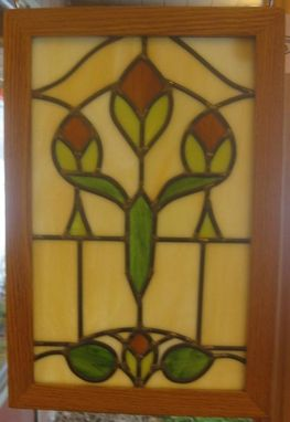 Custom Made Art Nouveau Stained Glass