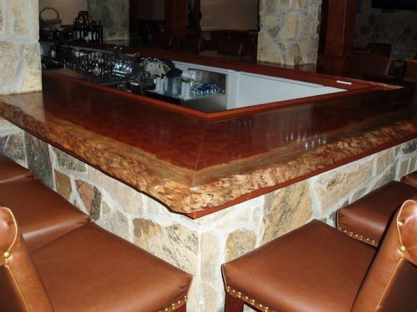 Hand Made Live Edge Bubinga Bar Top In Frederick, Md by ...