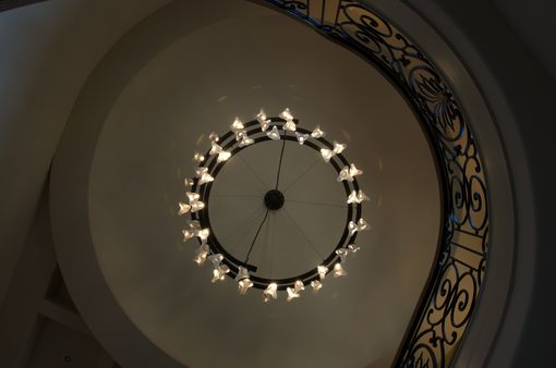 Custom Made Led Helix Chandelier