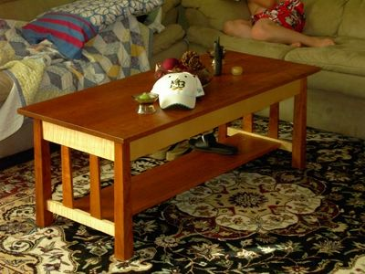 Custom Made Prairie Style Coffee And End Table Set