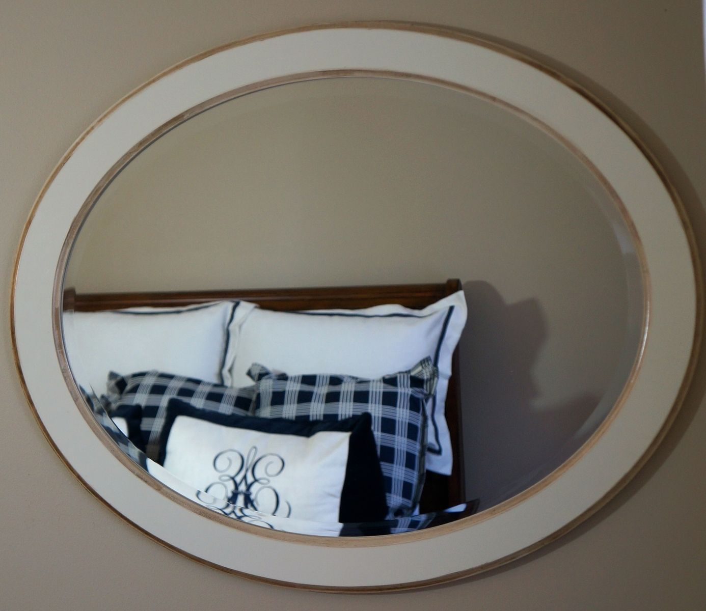 Hand made solid wood oval wall mirror by musheno for Custom made mirrors