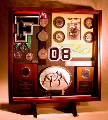 Custom Made Wood Shadow Boxes For Sports