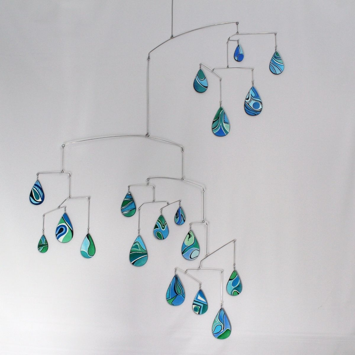 Buy A Hand Crafted Large Rain Drops Art Mobile Spring