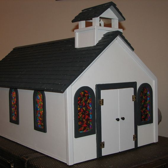 Hand Made Toy Wooden Church By Stockwell Creek Furniture
