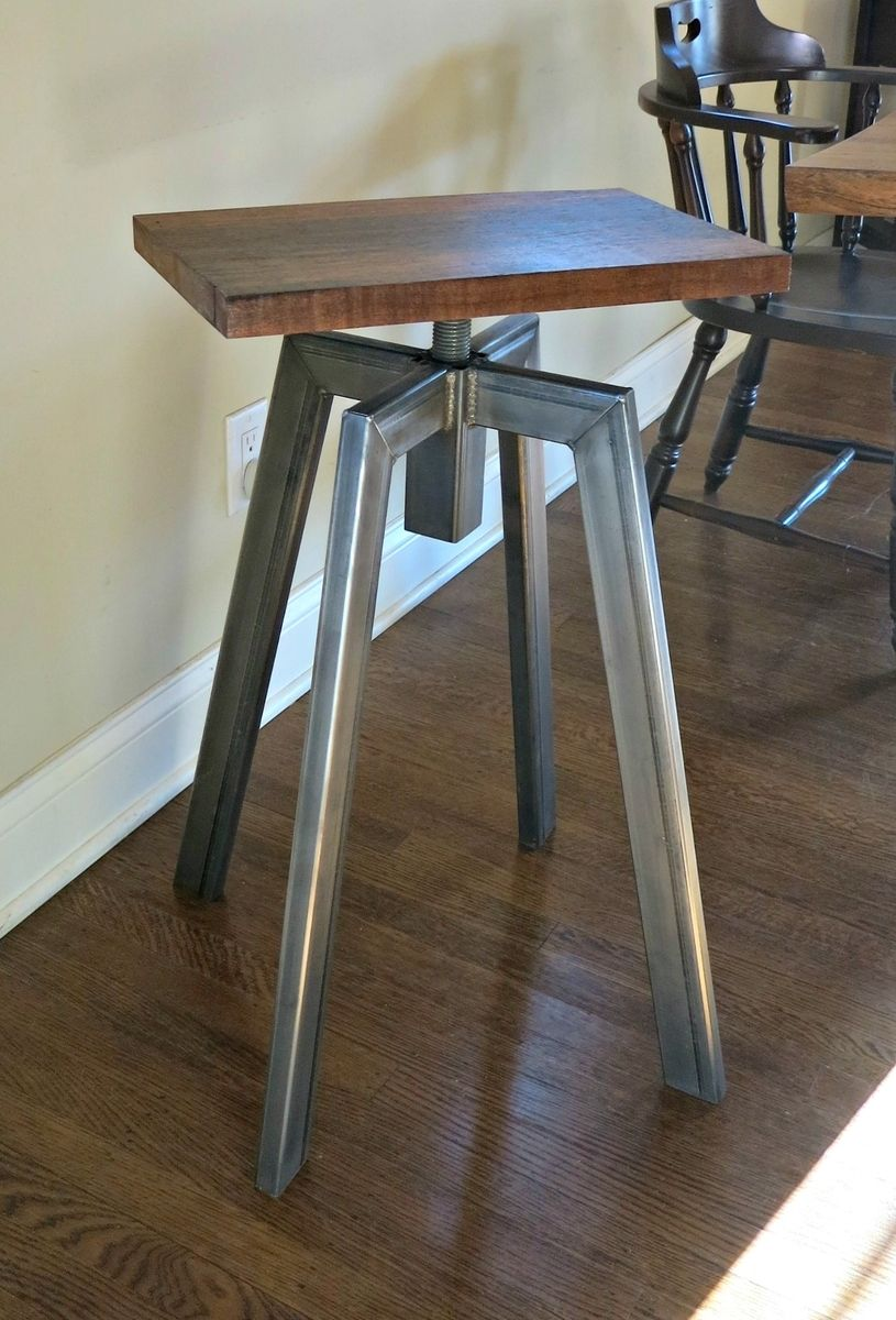 Hand Crafted Industrial Inspired Bar Stool by Donald Mee  : 142251481648 from custommade.com size 815 x 1200 jpeg 133kB
