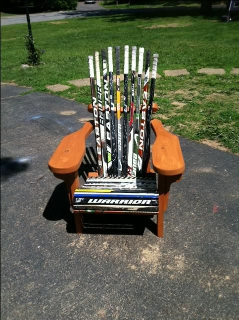 Hand Crafted Hockey Stick Adirondack Chair By Kmr Werkes
