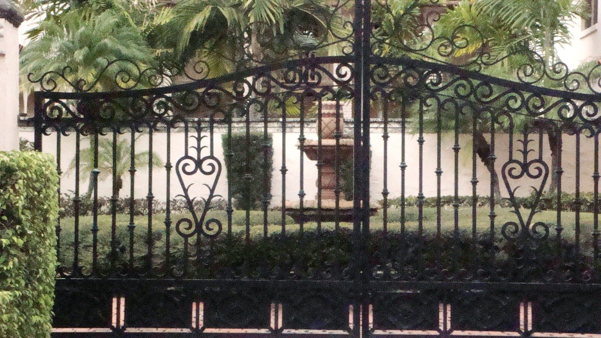 Hand Crafted Sliding Driveway Gate Hand Forged In Aluminum