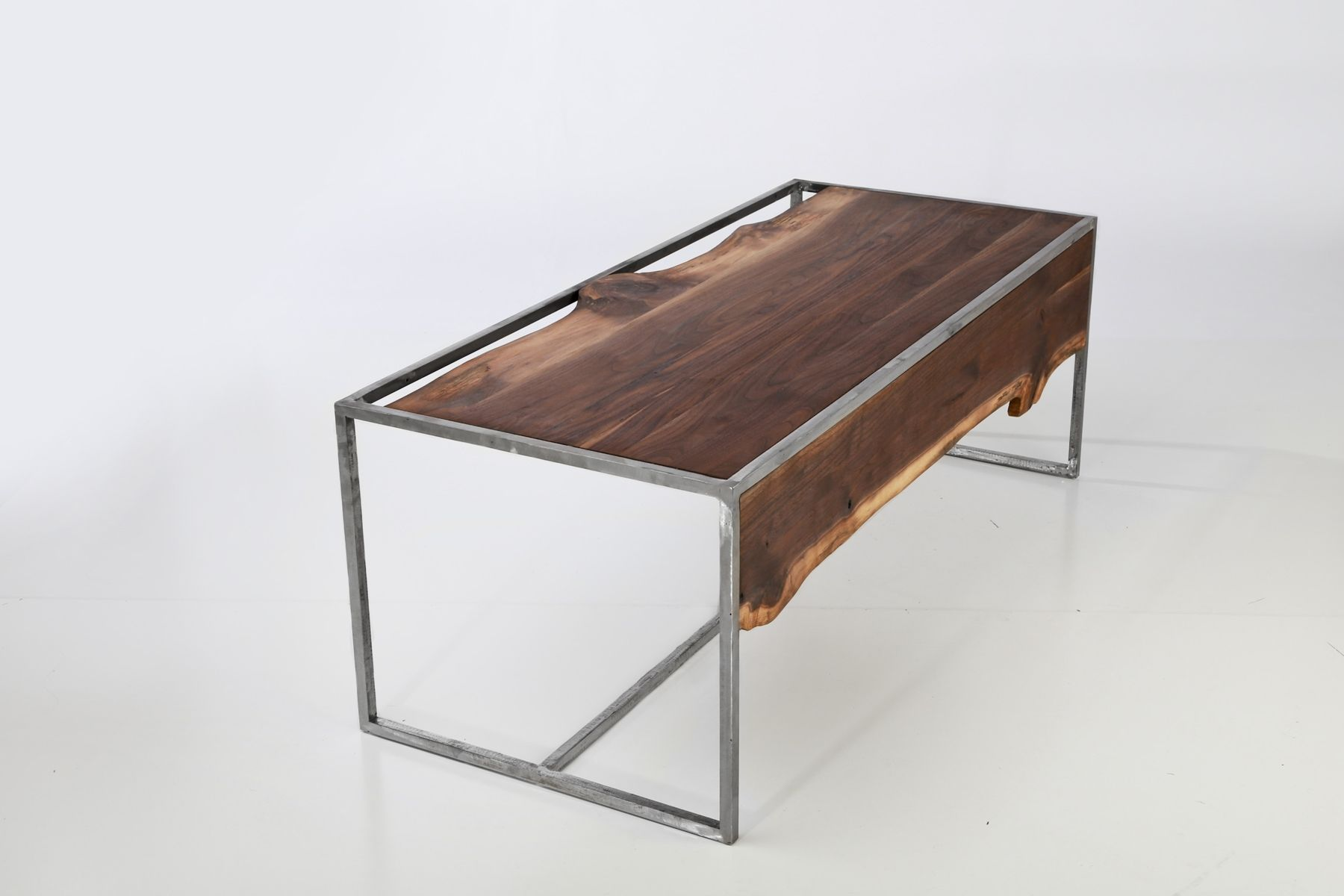 Custom Made Industrial Rustic Coffee Table By Anton Maka Designs
