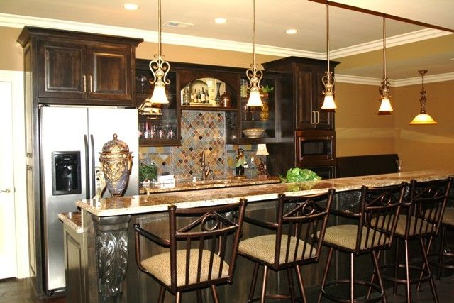 Hand Crafted Basement Bar By C N C Custom Cabinets