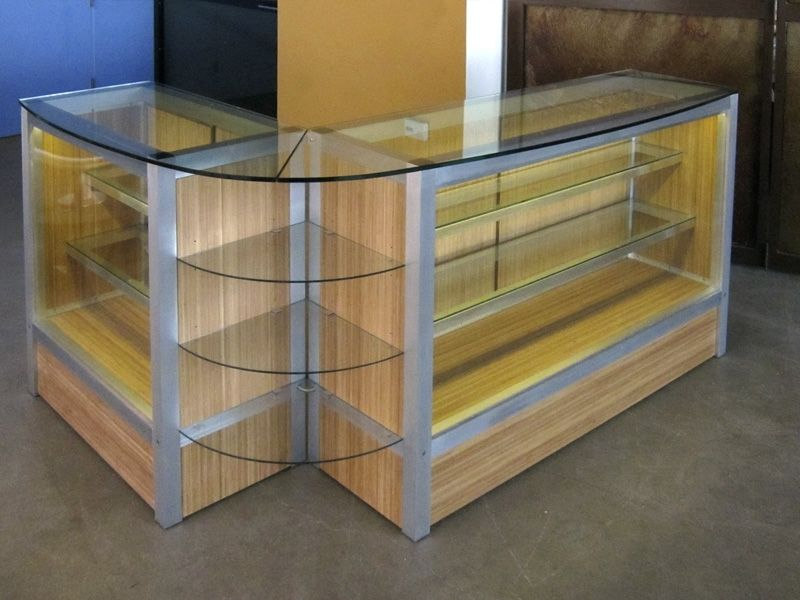Hand Crafted Custom Retail Display Cabinet By Glendon Good
