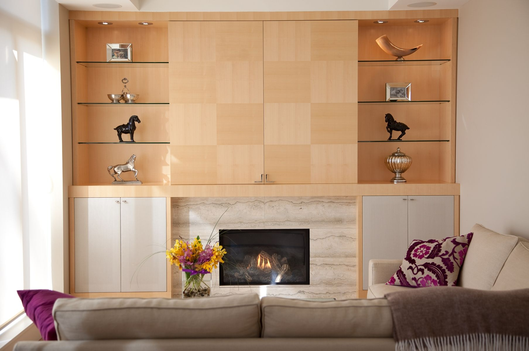 Best Of The Week 9 Instagrammable Living Rooms: Hand Crafted Media Maple Wall Unit By Soma Furniture Inc