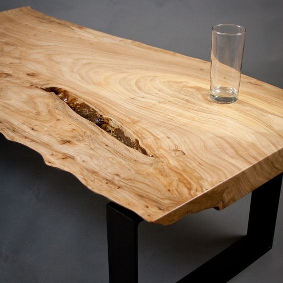 Make A Reclaimed Wood Coffee Table: Reclaimed Elm Wood Coffee Table By