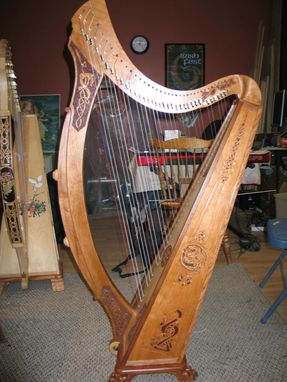 Custom Made Charly's Dragon Tara 36 String Irish Harp