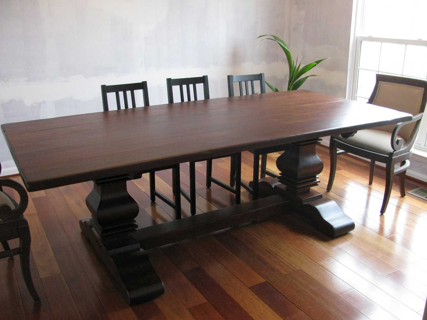 Handmade Rustic Cherry Double Pedestal Table By Shenandoah