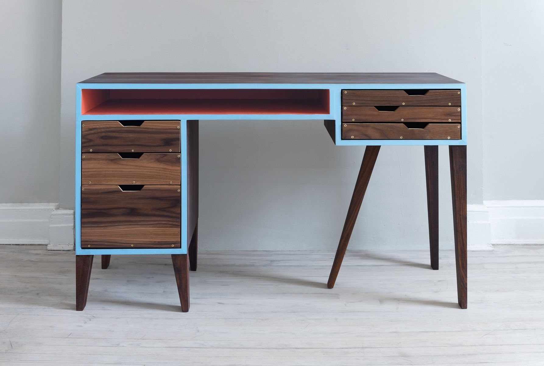 Hand Made Mid Century Modern Desk By Kevin Michael Burns