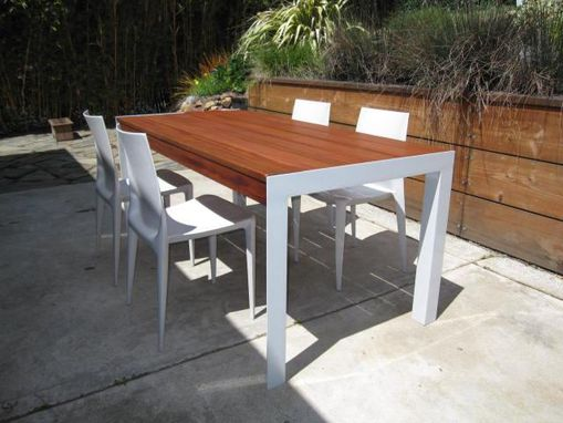 Custom Made Urban-Rustic Outdoor Table