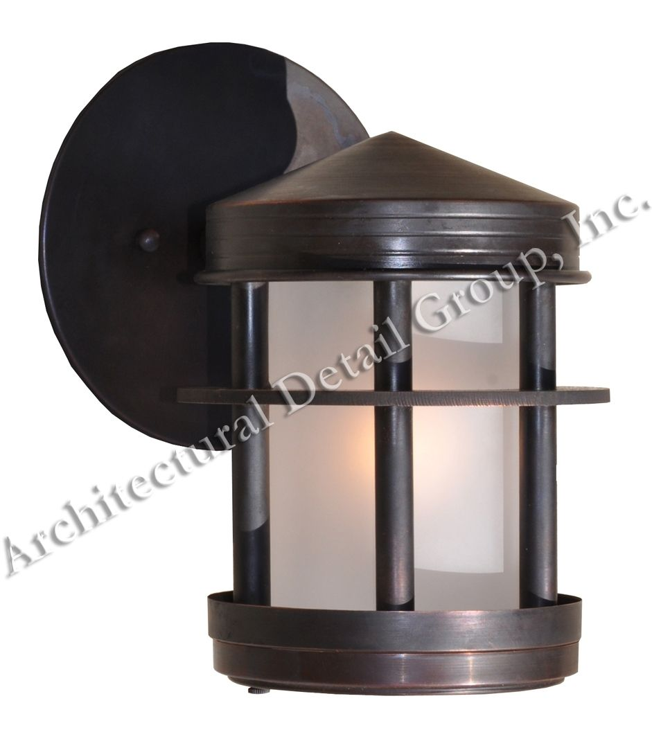 Handmade Copper Bronze Exterior Wall Sconce by Architectural Detail Group, Inc CustomMade.com