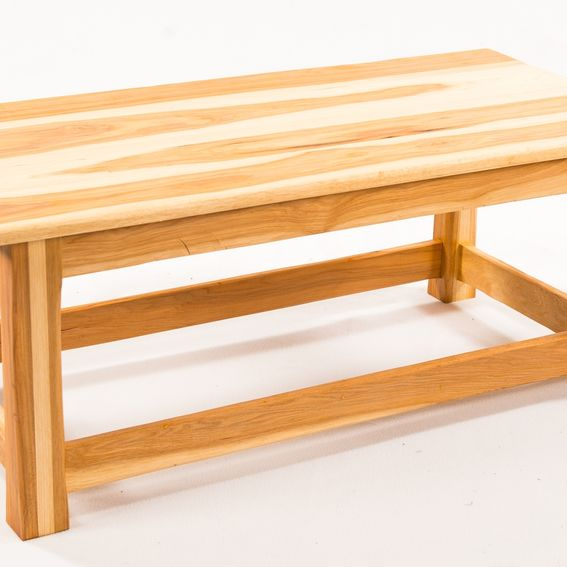 Handmade Distressed Hickory Coffee Table Farmhouse Chic Natural Wood Finish By Against The