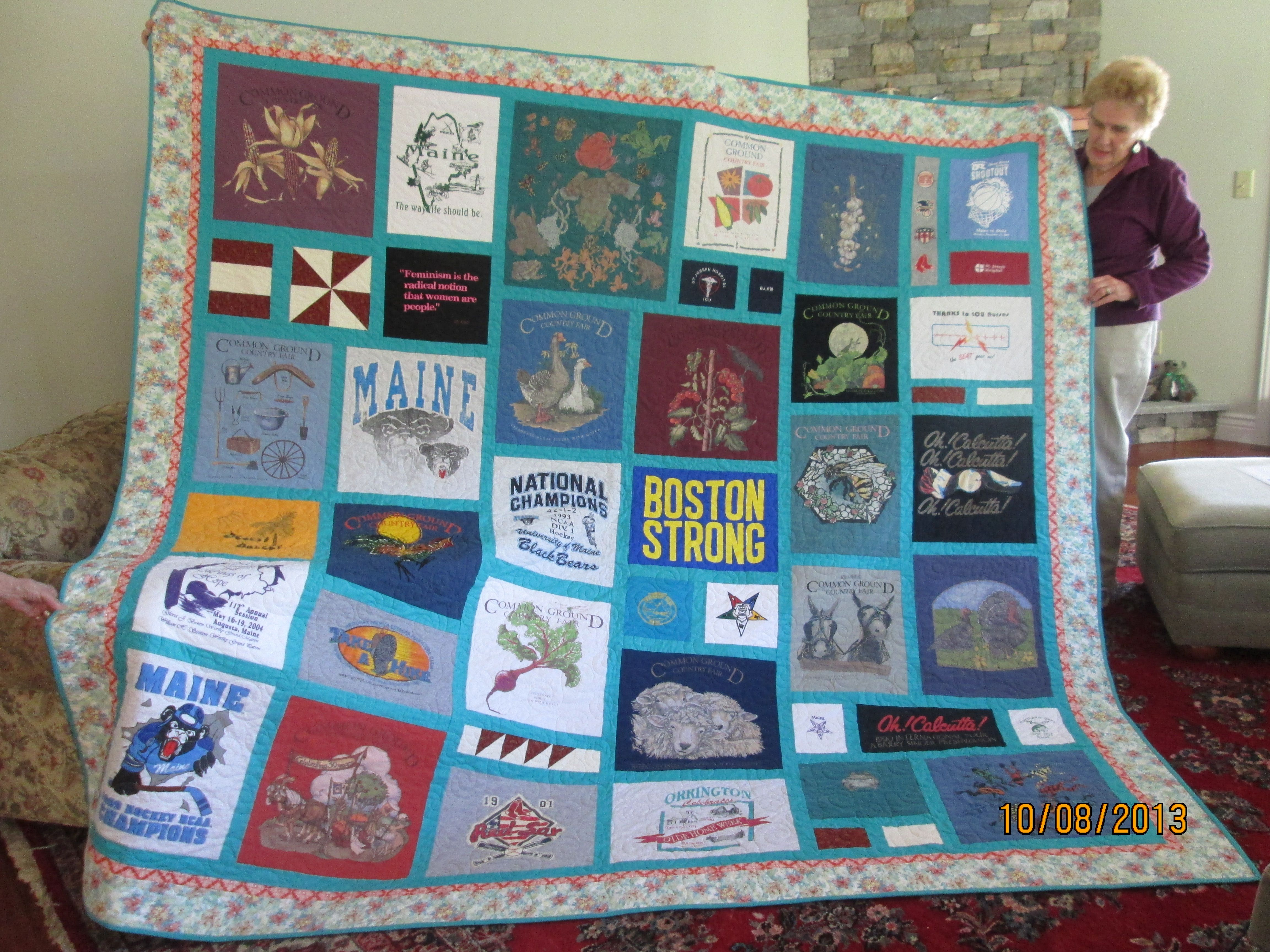 Custom Made King Size T Shirt Memory Quilt By Stitches By