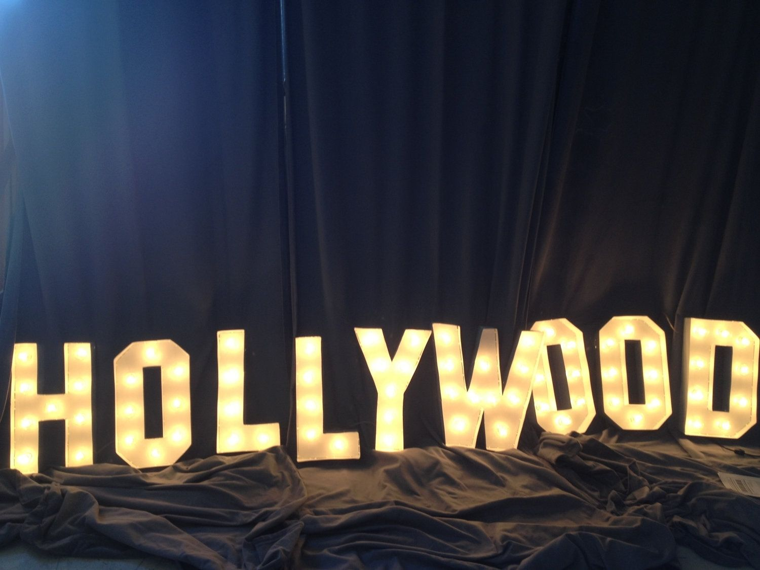 Hand crafted hollywood sign marquee letter 18 inch tall for Hollywood light up letters