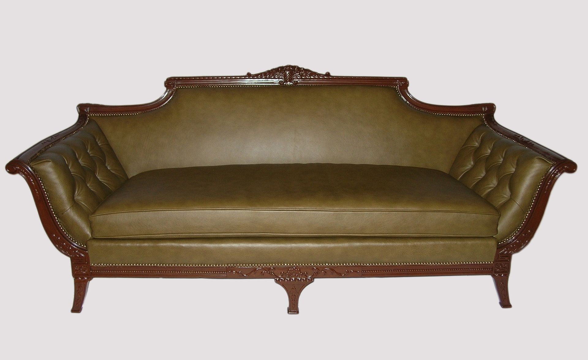 buy a custom philadelphia colonial sofa made to order. Black Bedroom Furniture Sets. Home Design Ideas