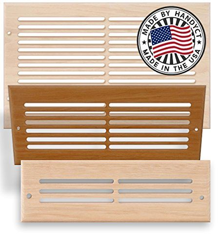 Custom Size Return Air Grille : Hand crafted wood and metal air return grills vents