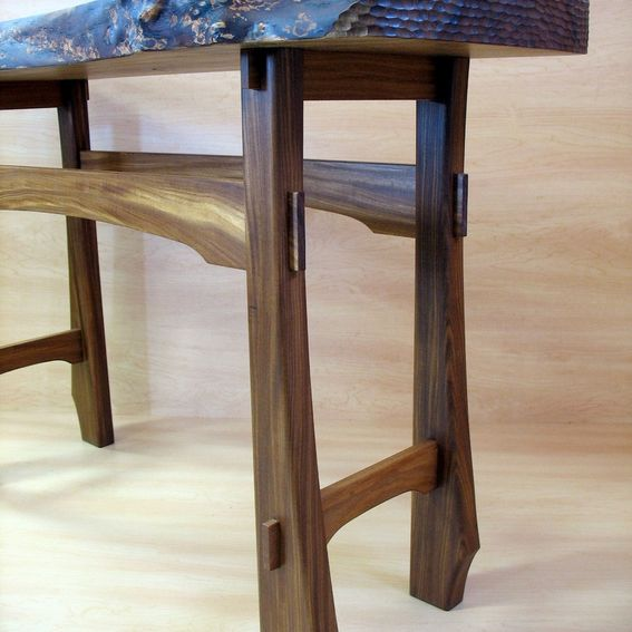 Live Edge Foyer Table : Buy a hand crafted live edge foyer table made to order