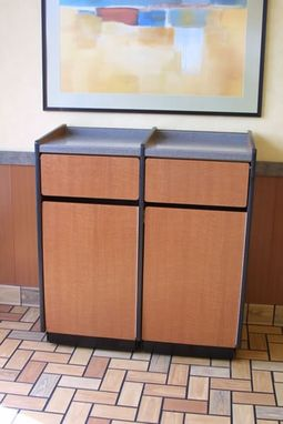 Custom Made Trash Cabinets