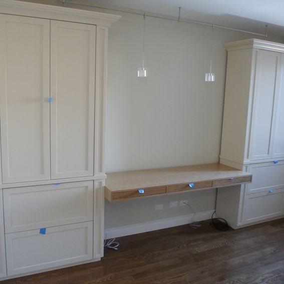 Hand Made Desk And Cabinets By Boerum Hill Joinery