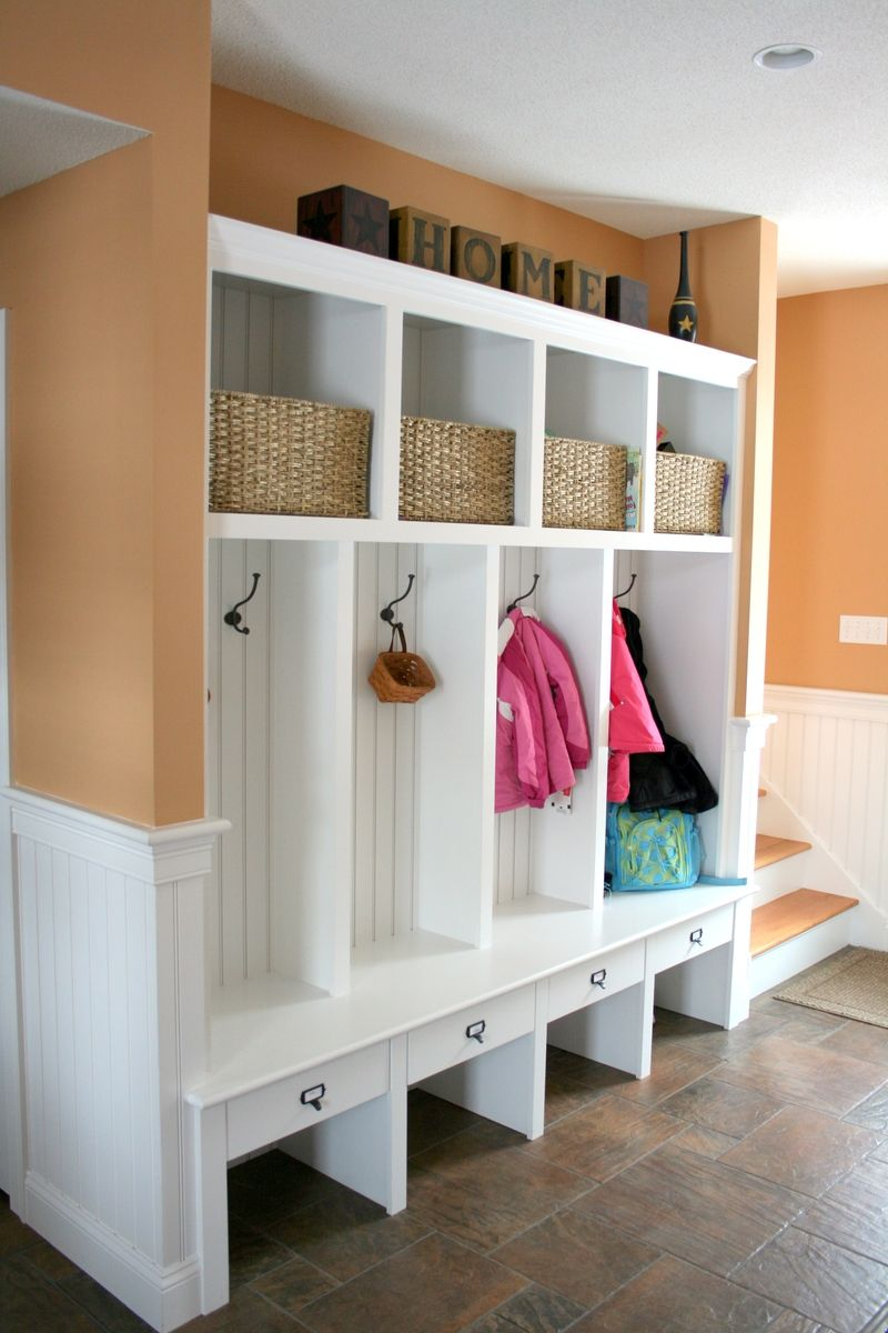 Hand made mudroom built ins by albert s grant fine Mudroom bench and coat rack