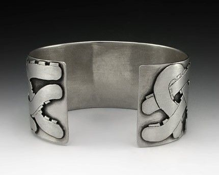 Custom Made Hand Fabricated Octopus Cuff Bracelet