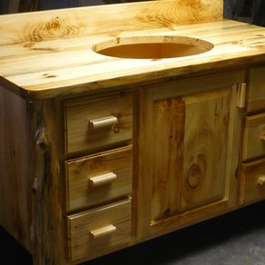 rustic pine bathroom vanity. Bradley 39 S Furniture Etc Customizable Rustic  Hand Made Bathroom Vanity From Reclaimed Pine By