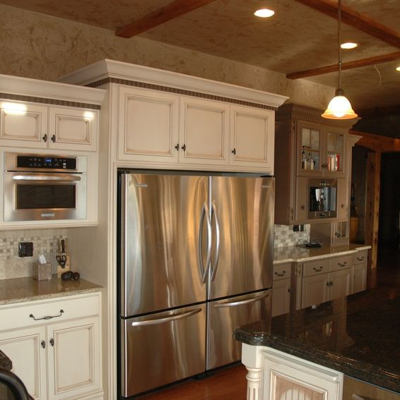 Country Kitchen Fridge: Custom Painted And Glazed French Country Kitchen By Custom
